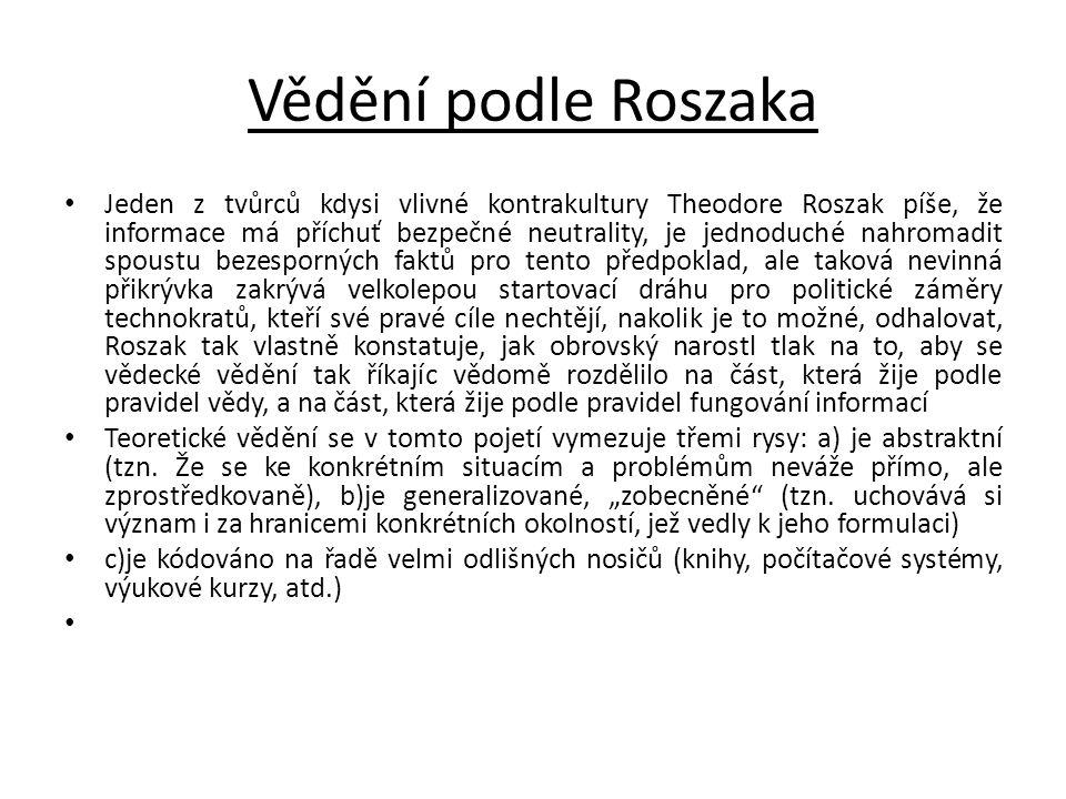 Vědění podle Roszaka
