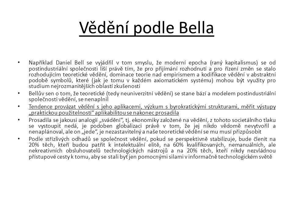 Vědění podle Bella