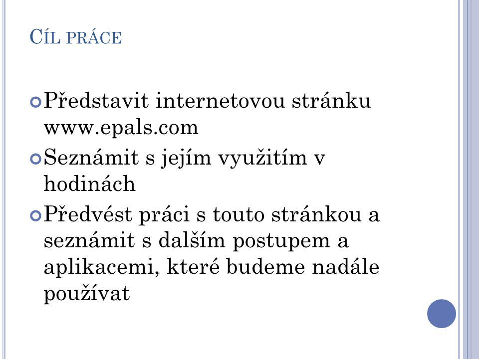Představit internetovou stránku www.epals.com