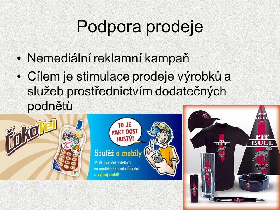 Podpora prodeje Nemediální reklamní kampaň