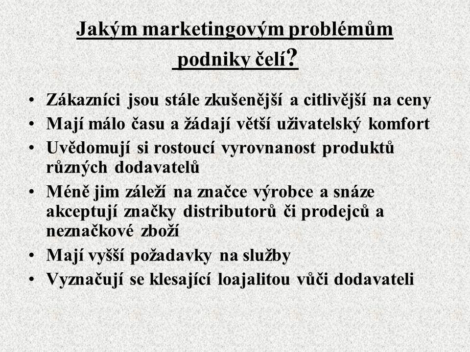Jakým marketingovým problémům podniky čelí