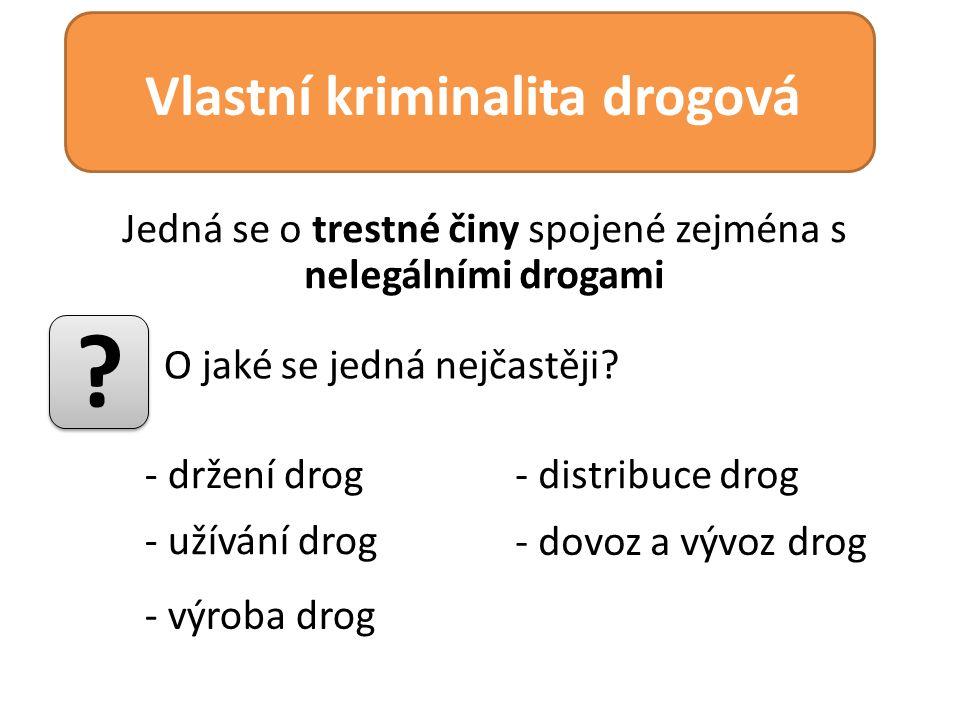 Vlastní kriminalita drogová