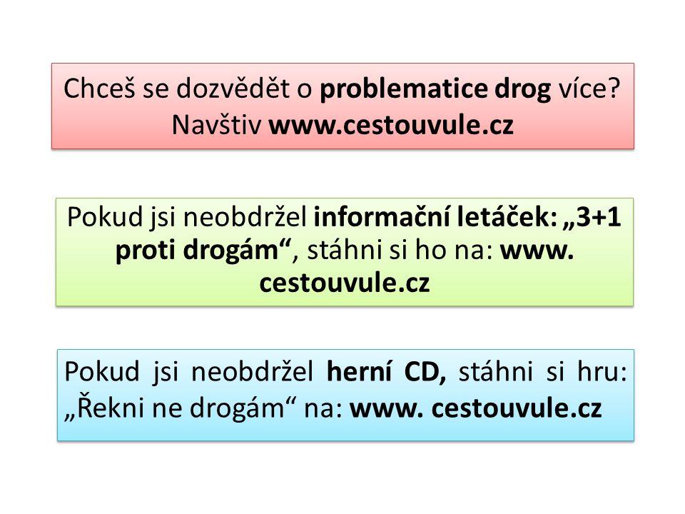 Chceš se dozvědět o problematice drog více Navštiv www.cestouvule.cz