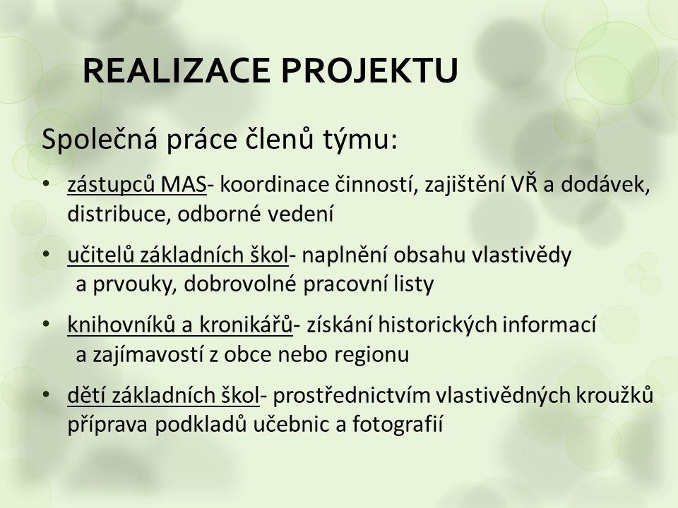 REALIZACE PROJEKTU Společná práce členů týmu: