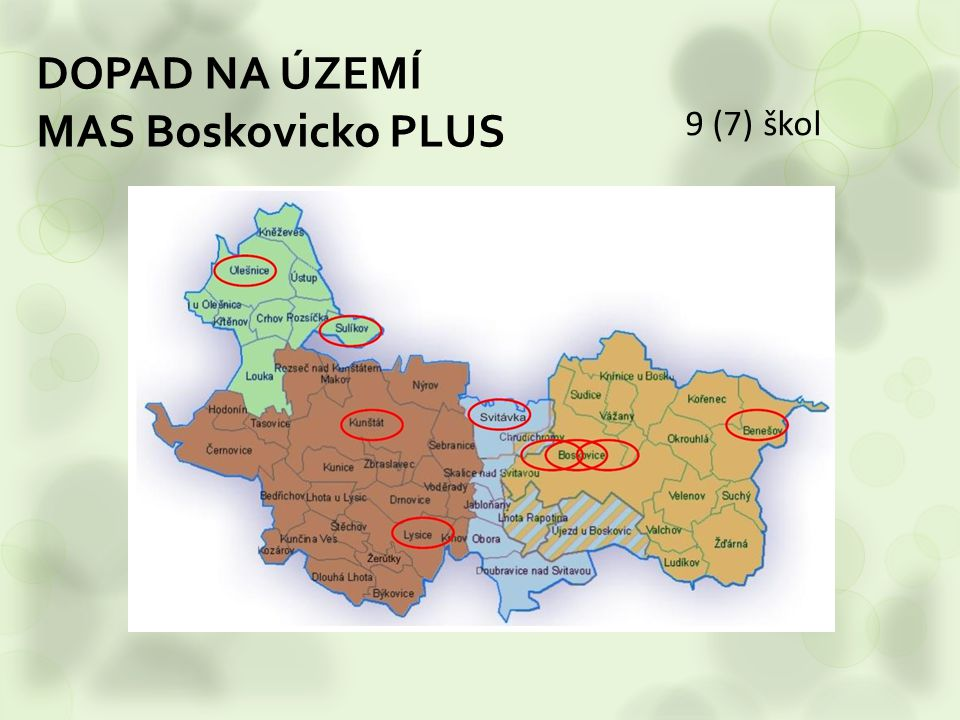 DOPAD NA ÚZEMÍ MAS Boskovicko PLUS