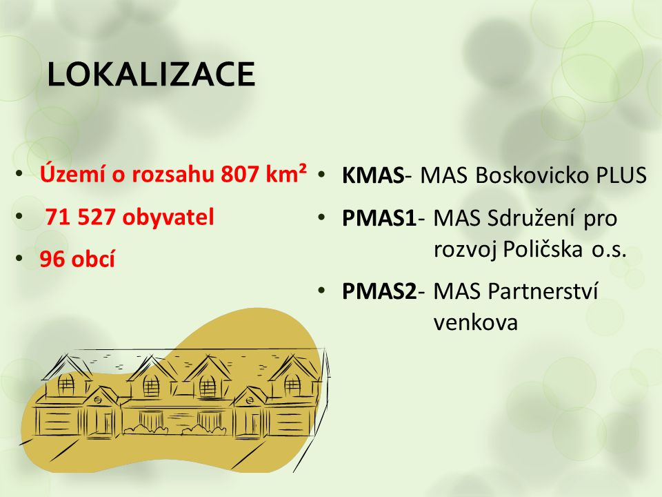 LOKALIZACE KMAS- MAS Boskovicko PLUS Území o rozsahu 807 km²