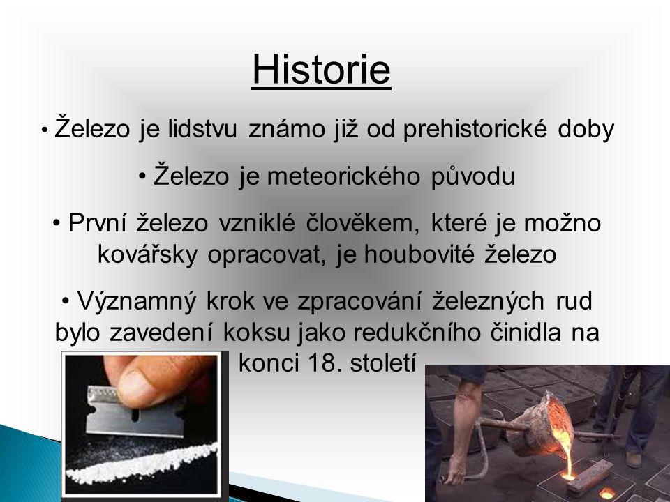 Historie Železo je meteorického původu