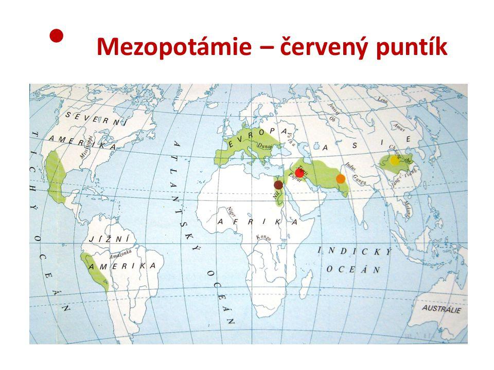 Mezopotámie – červený puntík