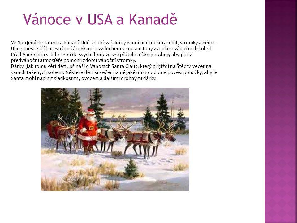 Vánoce v USA a Kanadě
