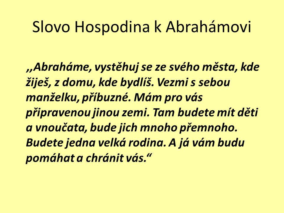 Slovo Hospodina k Abrahámovi