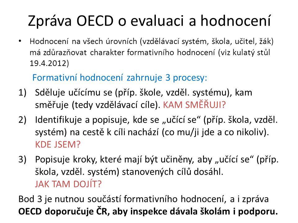 Zpráva OECD o evaluaci a hodnocení