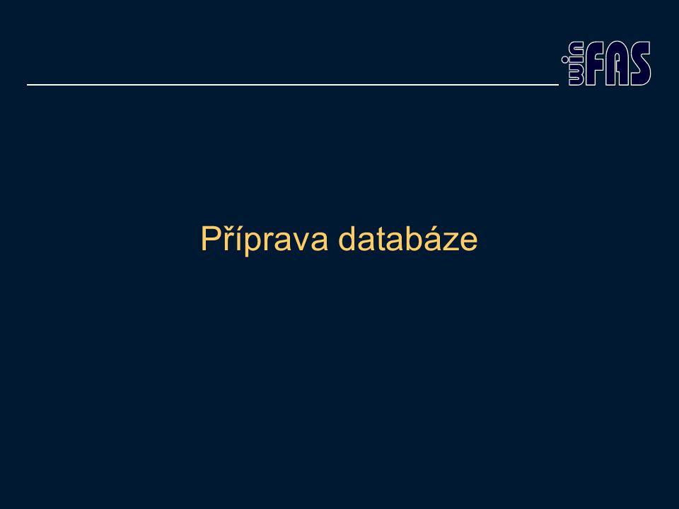 Příprava databáze