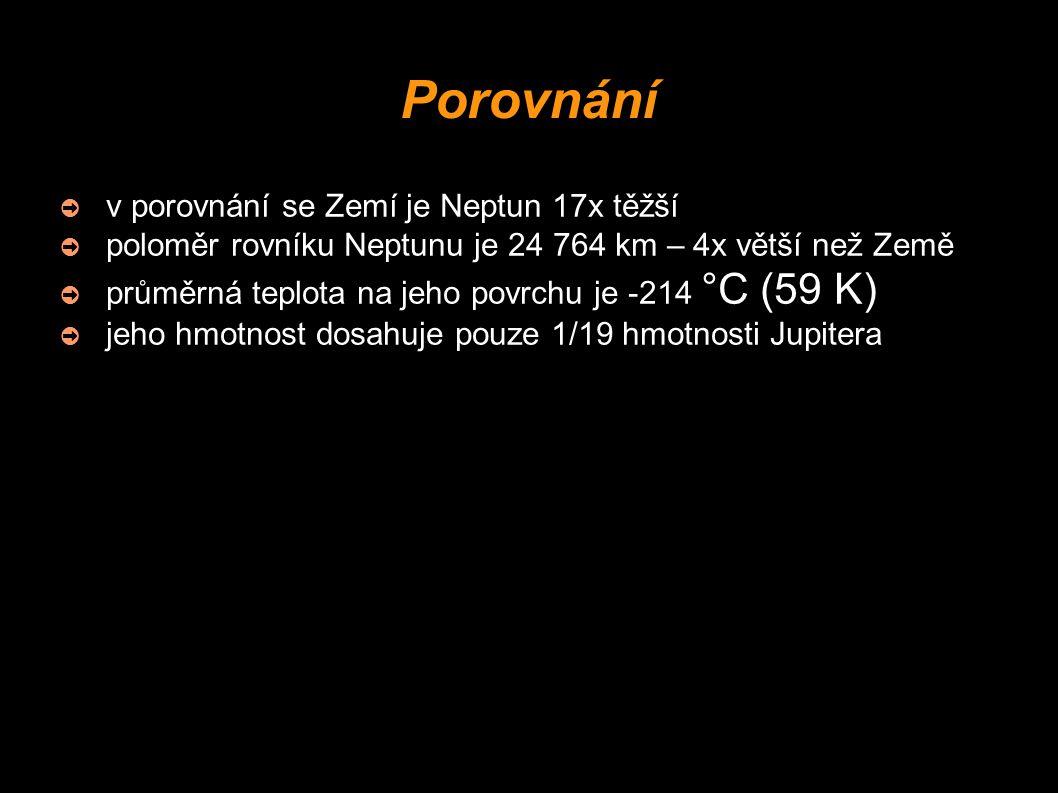 Porovnání v porovnání se Zemí je Neptun 17x těžší