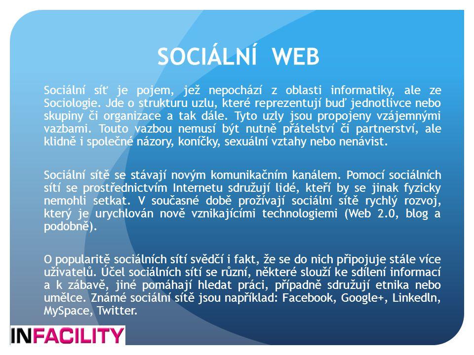 SOCIÁLNÍ WEB