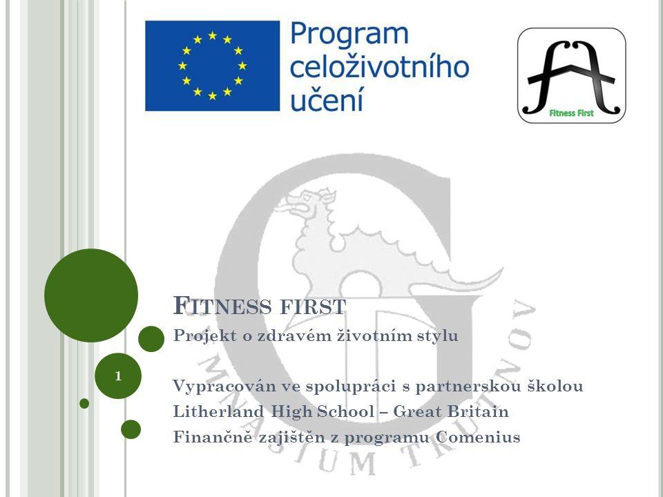 Fitness first Projekt o zdravém životním stylu