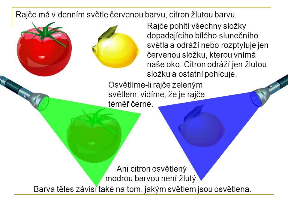 Ani citron osvětlený modrou barvou není žlutý.