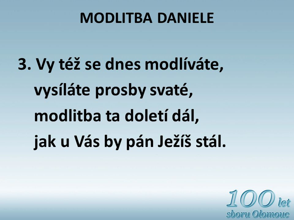 MODLITBA DANIELE 3.