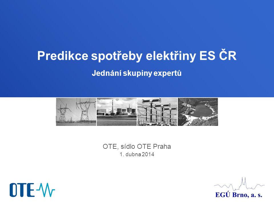 Predikce spotřeby elektřiny ES ČR Jednání skupiny expertů
