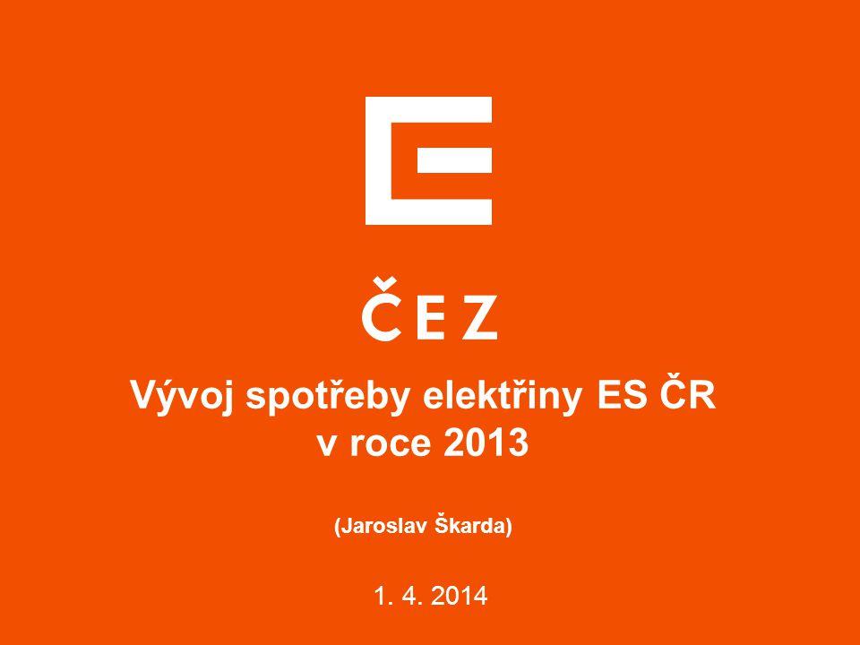 Vývoj spotřeby elektřiny ES ČR v roce 2013 (Jaroslav Škarda)