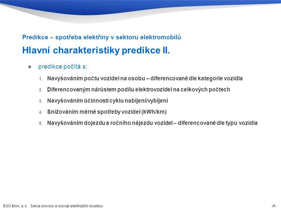Hlavní charakteristiky predikce II.