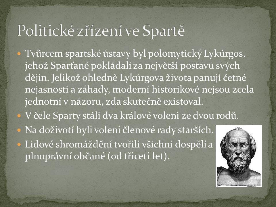 Politické zřízení ve Spartě