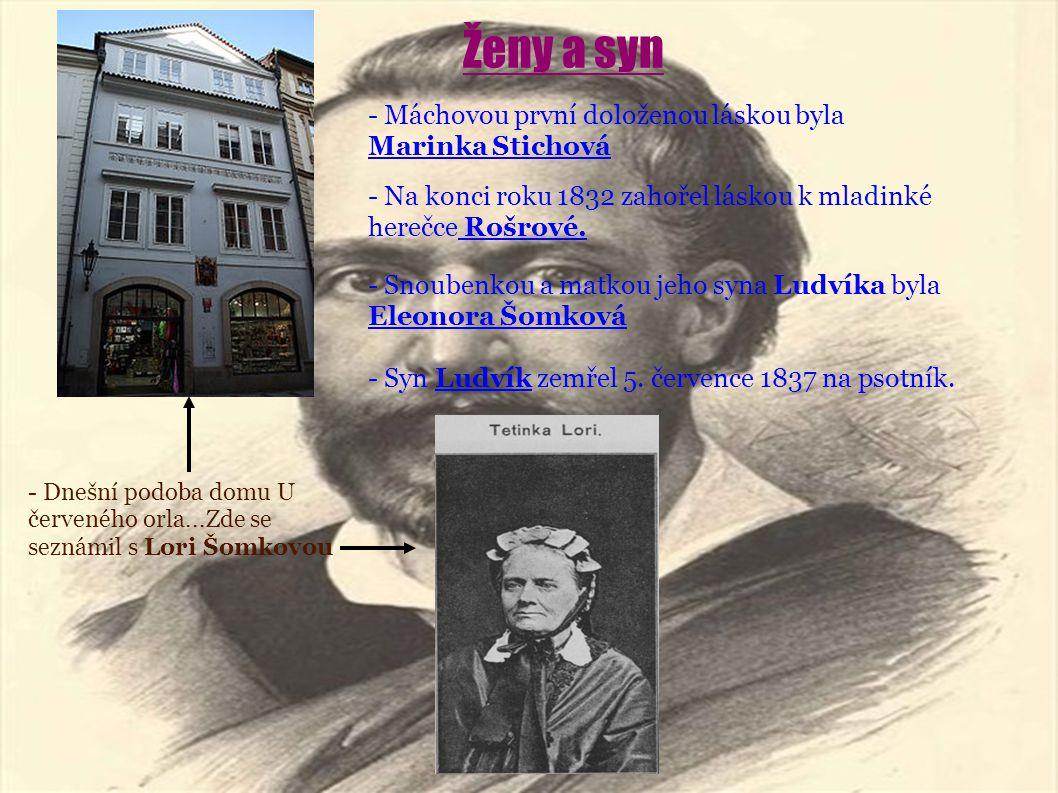 Ženy a syn - Máchovou první doloženou láskou byla Marinka Stichová