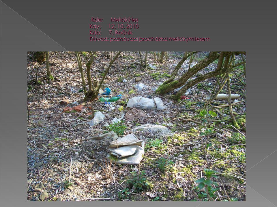 Kde: Melický les Kdy: 12. 10. 2010 Kdo: 7