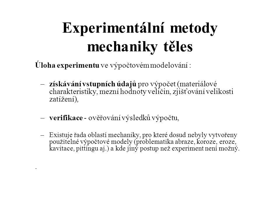 Experimentální metody mechaniky těles