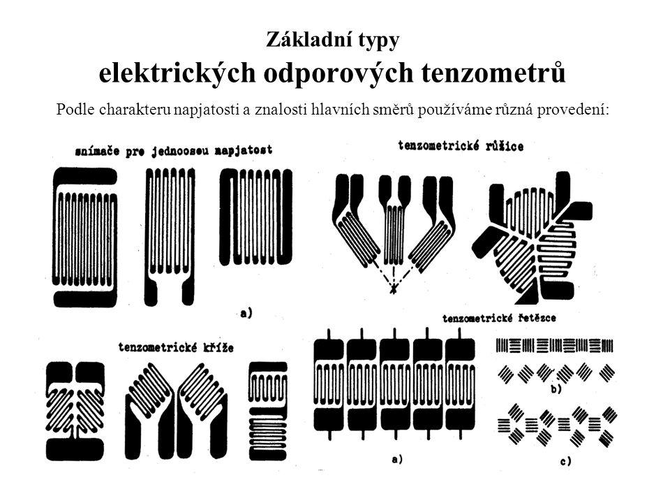 Základní typy elektrických odporových tenzometrů