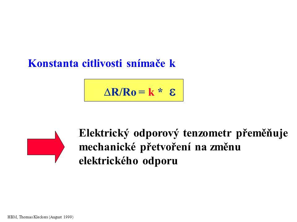 R/Ro = k  Konstanta citlivosti snímače k R/Ro = k * 