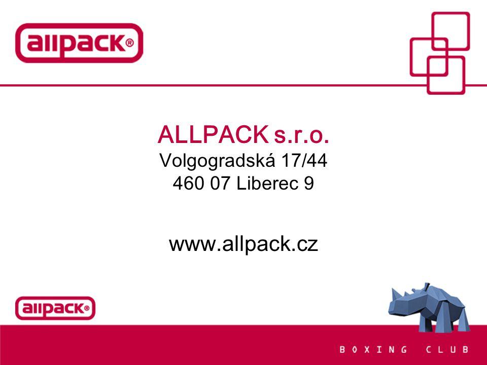 ALLPACK s.r.o. Volgogradská 17/44 460 07 Liberec 9