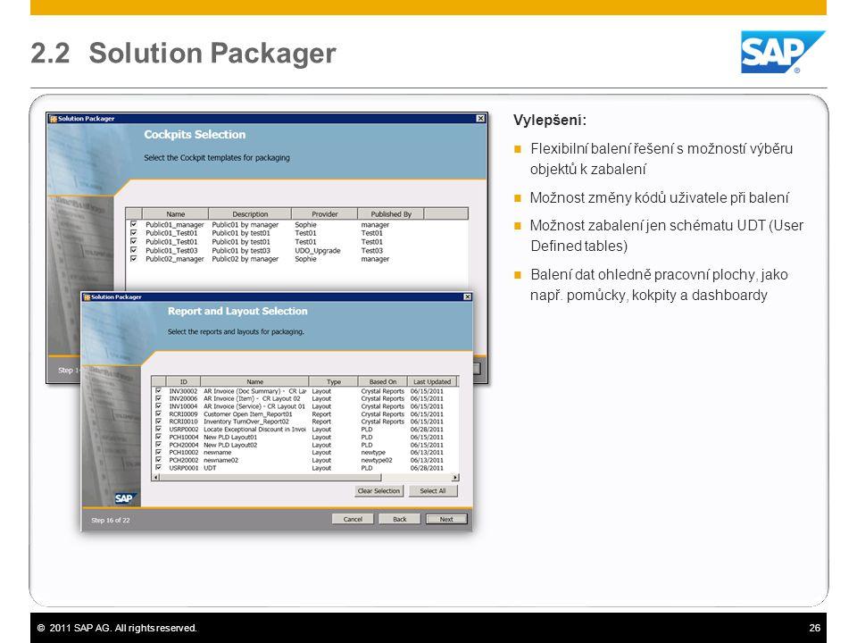 2.2 Solution Packager Vylepšení: