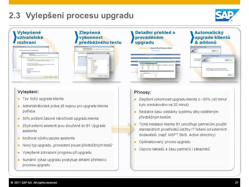 2.3 Vylepšení procesu upgradu