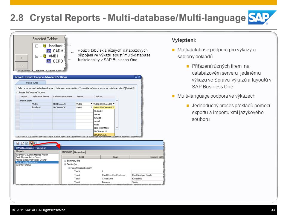 2.8 Crystal Reports - Multi-database/ Multi-language