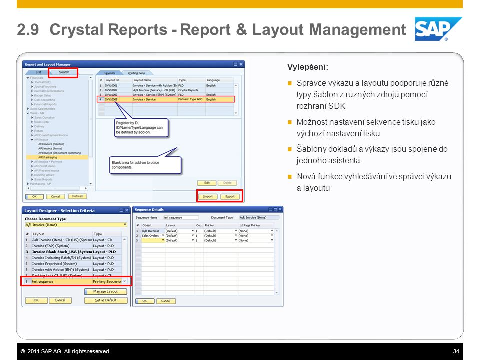 2.9 Crystal Reports - Report & Layout Management