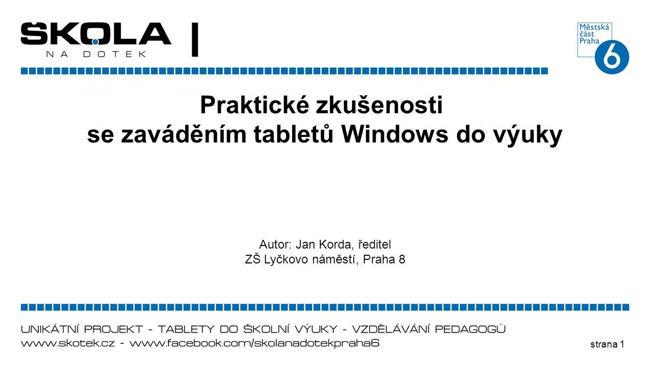 se zaváděním tabletů Windows do výuky