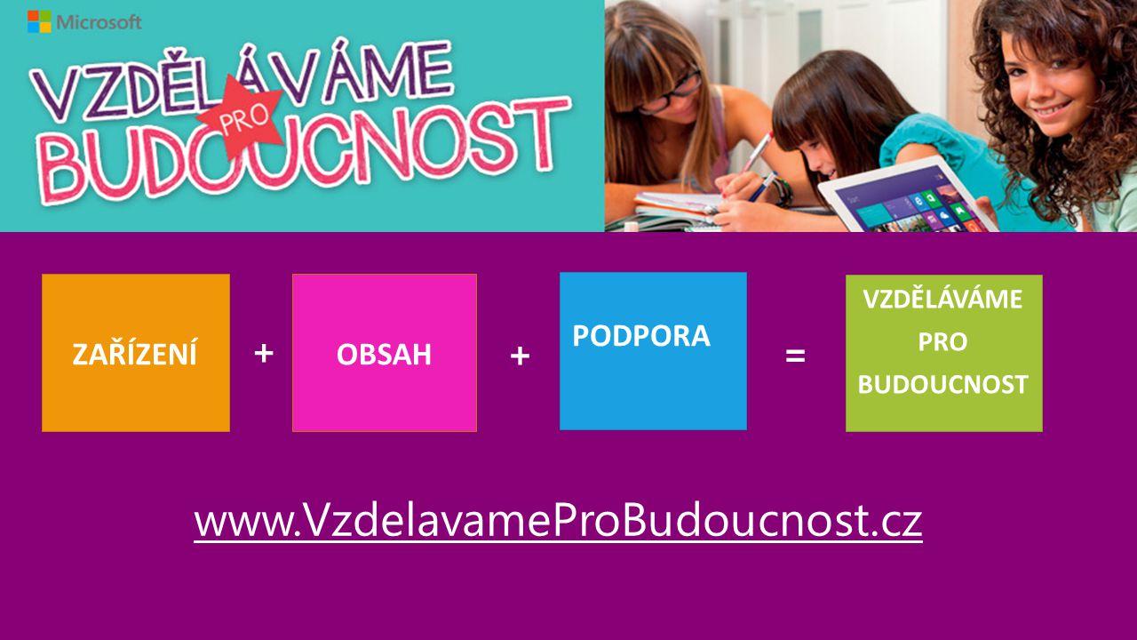 www.VzdelavameProBudoucnost.cz + + = ZAŘÍZENÍ OBSAH VZDĚLÁVÁME PRO