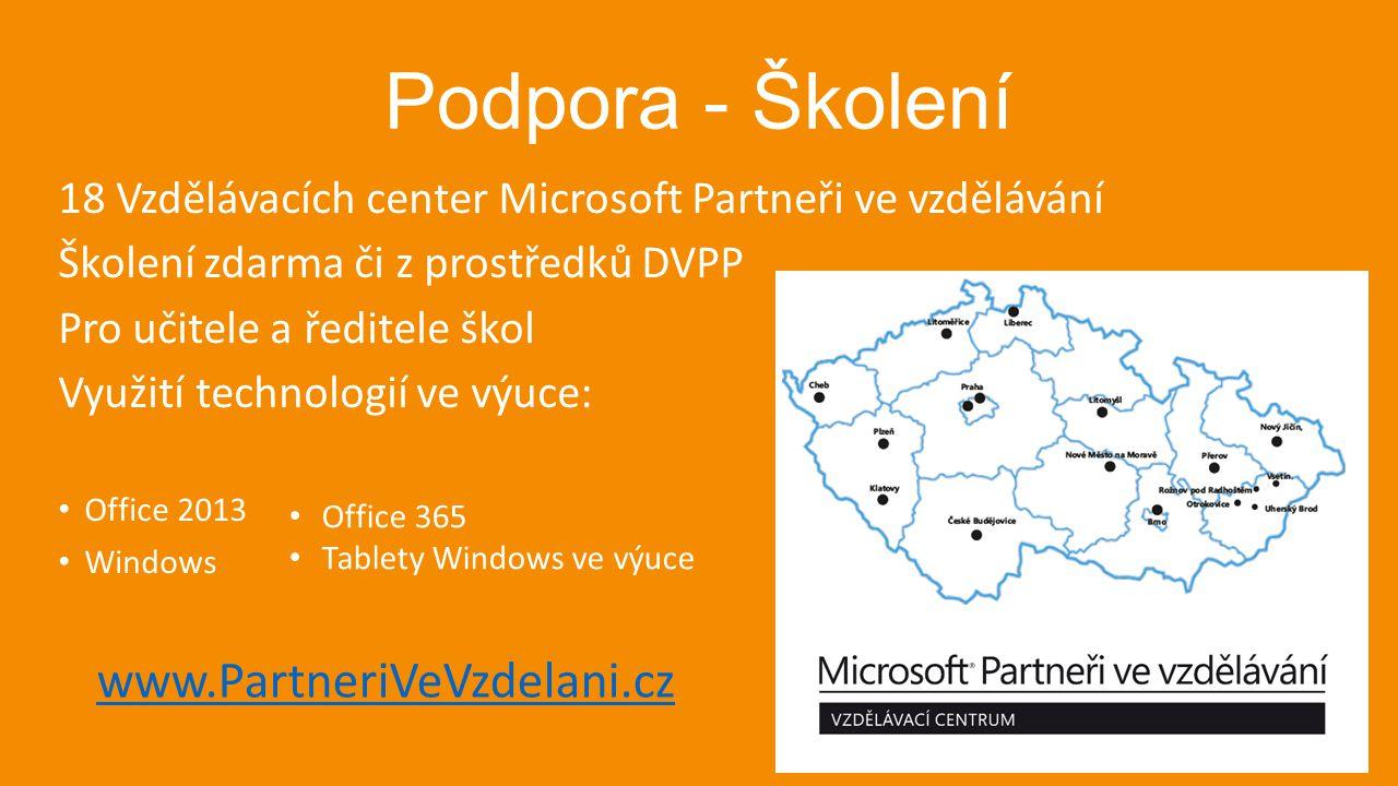 Podpora - Školení www.PartneriVeVzdelani.cz