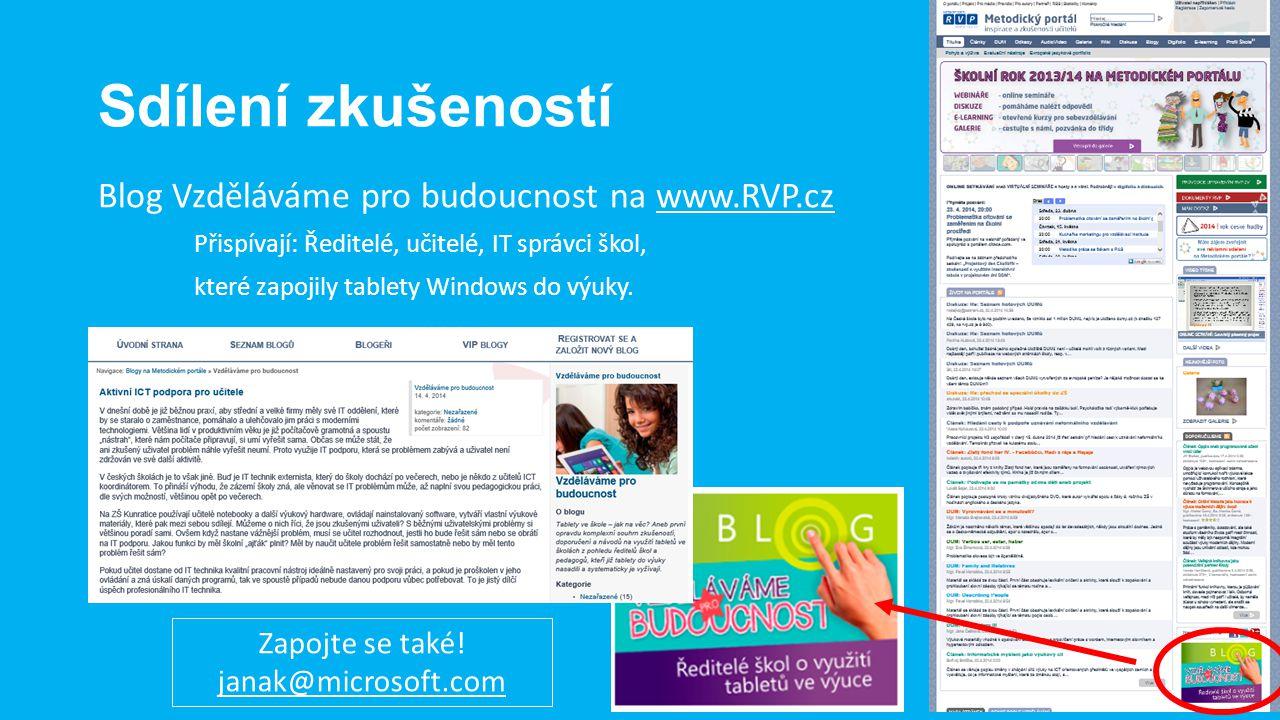 Sdílení zkušeností Blog Vzděláváme pro budoucnost na www.RVP.cz