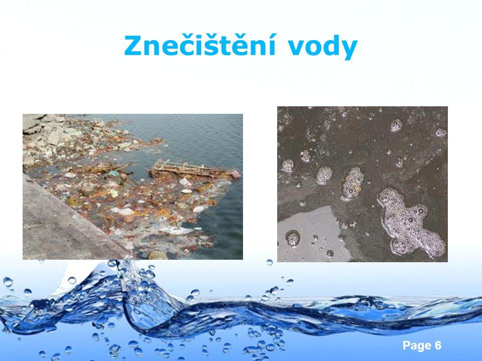 Znečištění vody