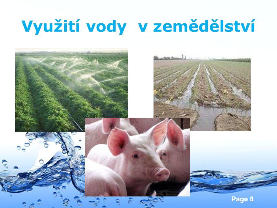 Využití vody v zemědělství