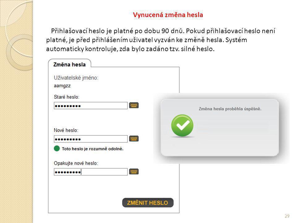 Vynucená změna hesla