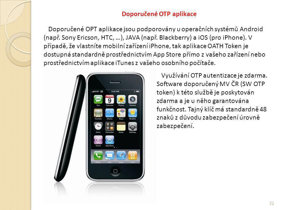 Doporučené OTP aplikace