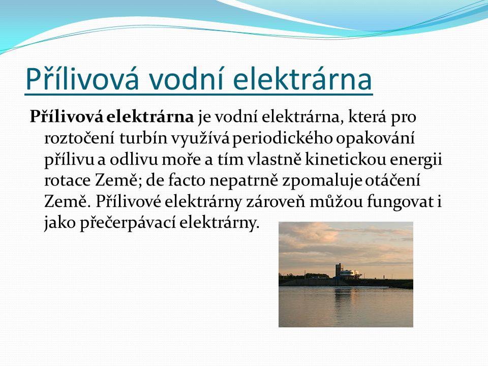 Přílivová vodní elektrárna