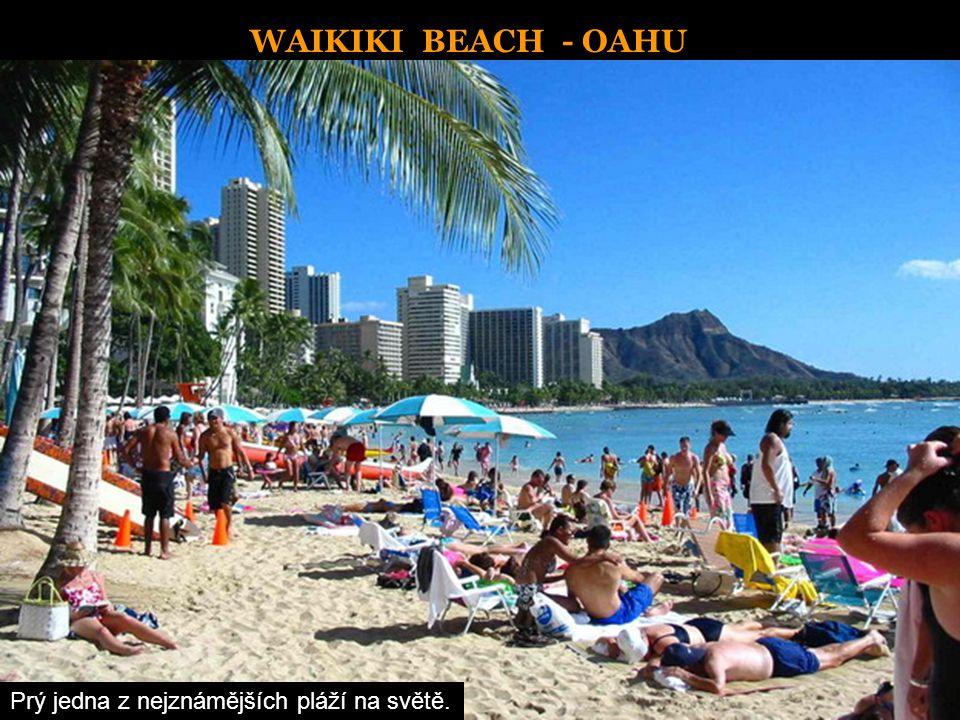 WAIKIKI BEACH - OAHU Prý jedna z nejznámějších pláží na světě.