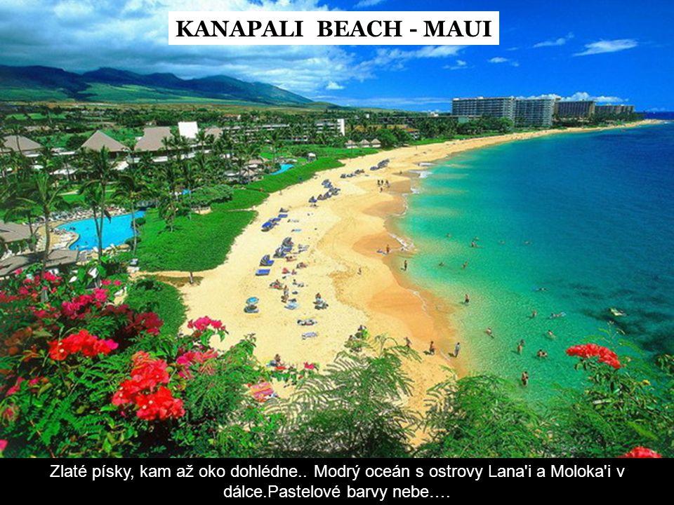 KANAPALI BEACH - MAUI Zlaté písky, kam až oko dohlédne..