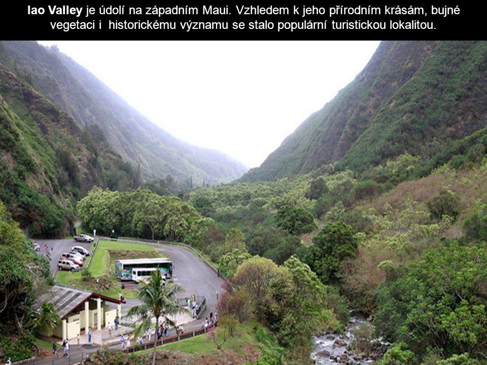 Iao Valley je údolí na západním Maui