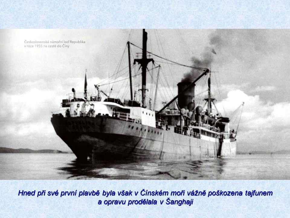 Hned při své první plavbě byla však v Čínském moři vážně poškozena tajfunem a opravu prodělala v Šanghaji