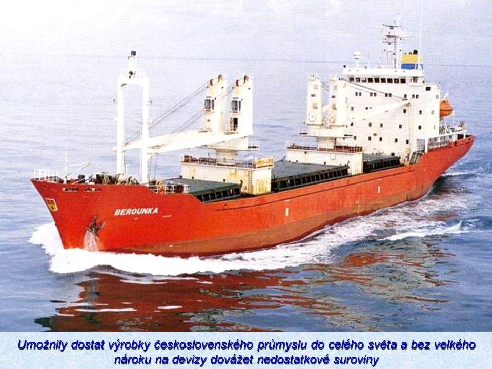 Umožnily dostat výrobky československého průmyslu do celého světa a bez velkého nároku na devizy dovážet nedostatkové suroviny