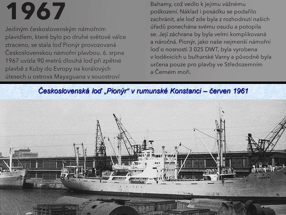"""Československá loď """"Pionýr v rumunské Konstanci – červen 1961"""